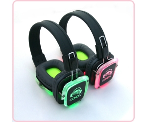 3 channel wireless Silent Disco headphone and transmitter for Silent party