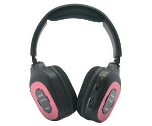 Dual channel stereo IR Wireless headphones IR-607D for car