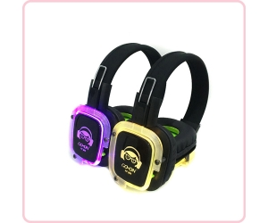 RF-309(Purple) LED Light Silent Disco Headphone for Silent Party