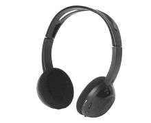 Personal volume control wireless IR Audio headset IR-8366 for car