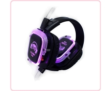 China RF-309 LED lights silent yoga headphones for silent disco yoga class factory