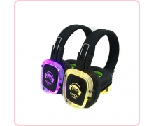 China RF-309 (roxo) LED Silent Disco Headphone para Silent partido fábrica