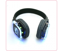China RF-309 buy silent disco headphone silent DJ headphone with LED lights factory