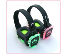 China RF-309 silent party headphones with LED light factory