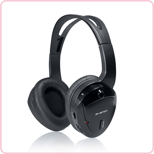 Ir 8670 Infrared Headphones For Car Dvd Player With Wireless Transmitter High Quality Silent Disco Headphones Silent Yoga Equipment Wireless Tour Guide System Manufacturer In China