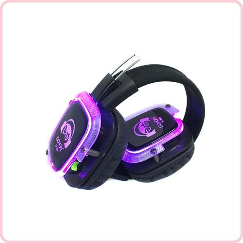 Rf 309 Silent Disco Headphone Led Light Silent Party