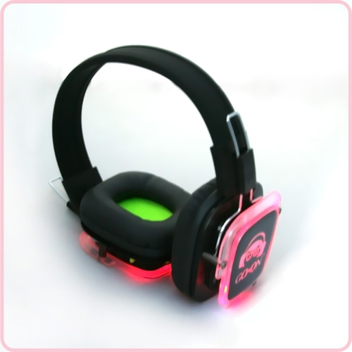 Rechargeable Led Light Silent Party Headphones Rf 309
